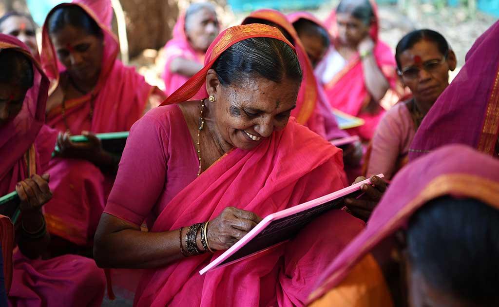 Widows Some Aged 90 Start School Near Mumbai Families