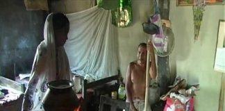 Assam Floods Restrict Couple To Banana Tree Raft