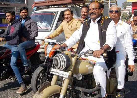 Bhopal MP Pays Fine, Apologises For Riding Motorcycle Without Helmet