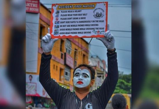 Who Needs A Voice To Communicate, With Mime As His Tool This Man Overcomes His Disability To Spread The Message Of Road Safety