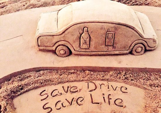 Road Safety Week: Sudarsan Pattnaik Creates Sand Art With A Message To Make Roads Safer