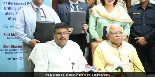 Haryana and ONGC sign an MoA to dig water wells near Saraswati river