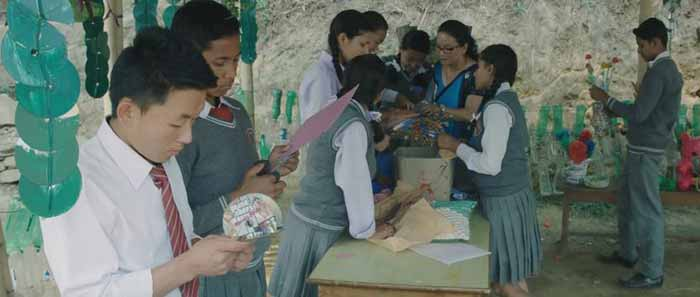Students and teachers come together to make useful items from discarded plastic