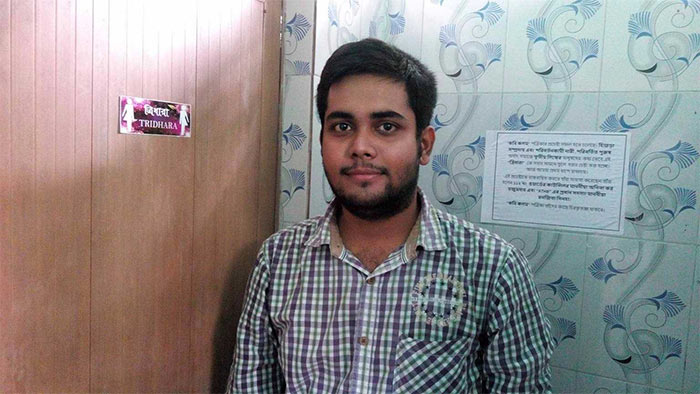 21-year-old Sobhan Mukherjee has been instrumental in installing signage for transgender people in public toilets