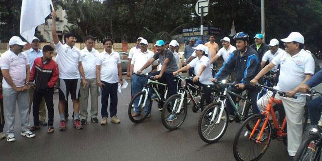 Karnataka's Belagavi District Celebrates National Sports Day By Conducting A Swachh Cyclothon