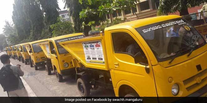 Waste collection vehicles in Mangaluru