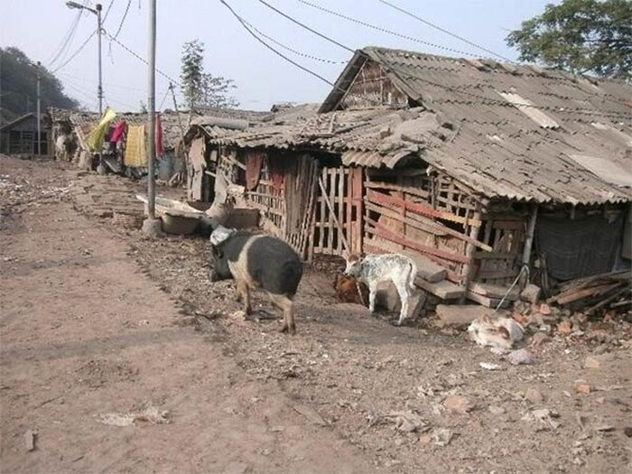 Dhapa is home to nearly 30,000 people who continue to live in deplorable conditions
