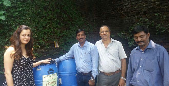 Dia Mirza Sets An Example As A Swachh Ambassador, Makes Her Society Zero Waste