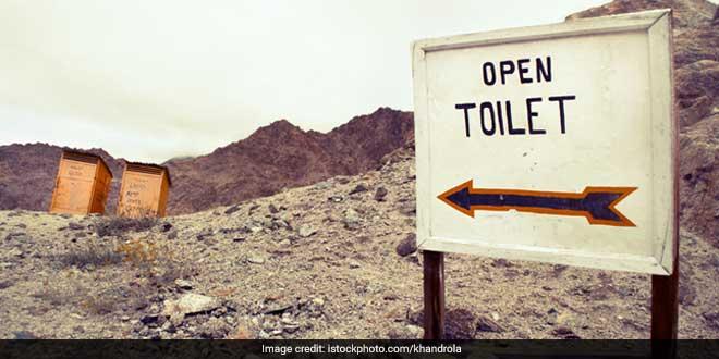 Toilet in hills