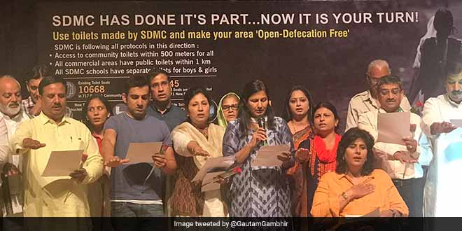 South Delhi Municipal Corporation Declared Open Defecation Free On Rashtriya Swachhta Diwas