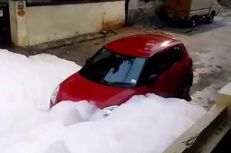 Now, Lake Froth On Hyderabad Streets After 5-Hour Rain