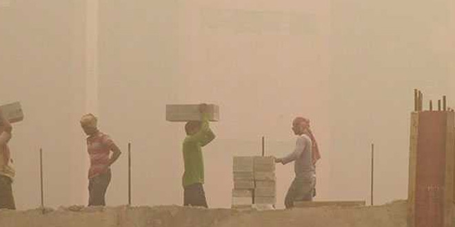 Air Pollution: Dust particles led to low visibility levels in northern parts of India