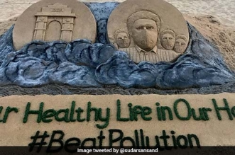 'Our Healthy Life Is In Our Hand': Sudarsan Pattnaik Creates Sand Art To Spread The Message Of #BeatPollution