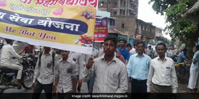 Vasundhara College students even took out a door-to-door campaign