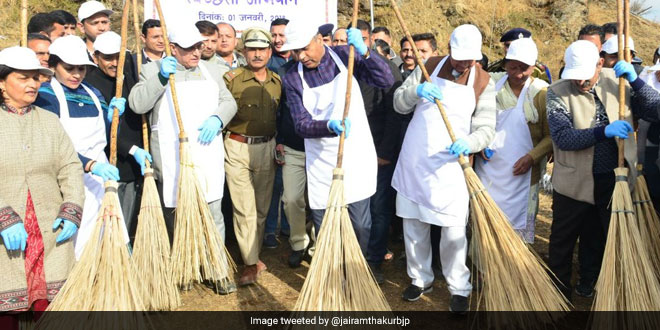 Chief Minister Jai Ram Thakur Launches A Campaign To Clean Drinking Water Reservoirs