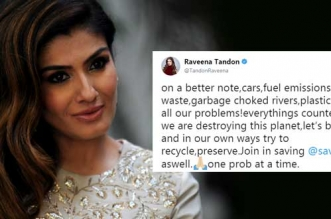 Let's Take A Pledge To Recycle And Preserve The Environment That We All Are Destroying: Actor Raveena Tandon
