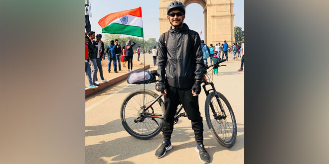 Manipuri Cyclist Embarks On A Journey With An Anti-Pollution Message, Pedals From India Gate To Imphal