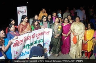 Yamuna river rally on Women's Day