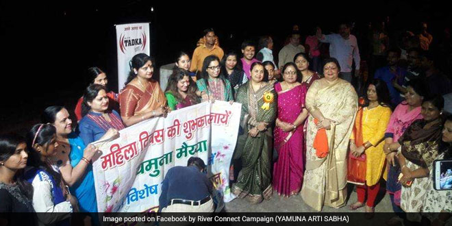 Yamuna river rally on Women's Day