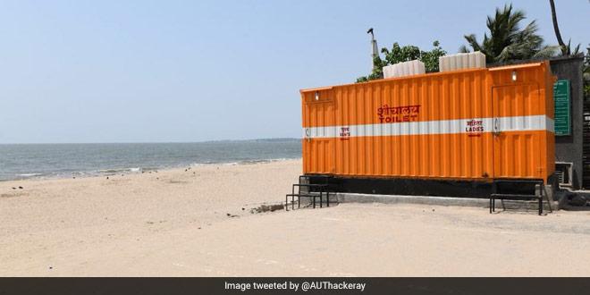 Toilet in Juhu beach