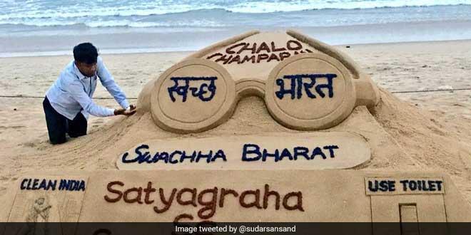 In Pics: Artist Sudarsan Pattnaik's Sand Art Urges People To Join #SwachhSatyagraha