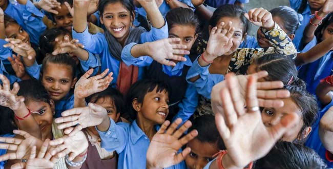 Between 2000 and 2016, the number of school-age children in India increased from 352 million to 378 million