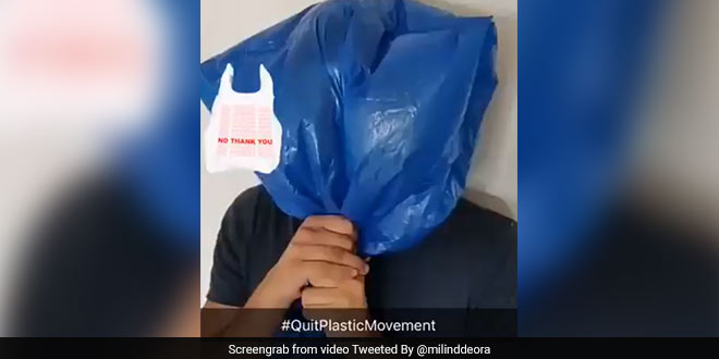 """The Plastic Is Choking Us. It's Time We Quit It"", Says Twitterati Supporting Ex-IT Minister Milind Deora's #QuitPlasticMovement"