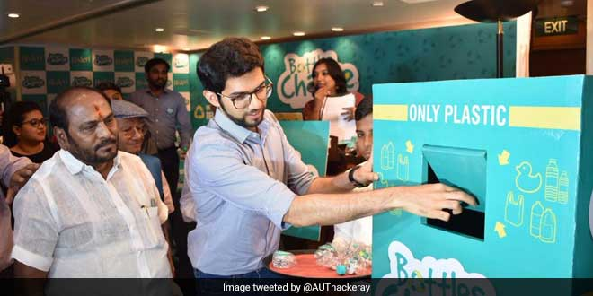 Aditya Thackeray launches the PET bottle recycling project