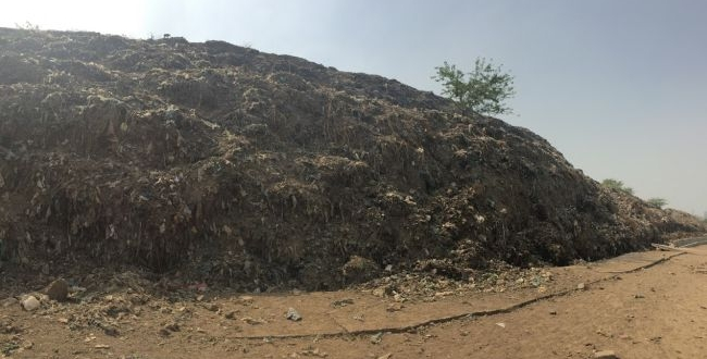 The Ghazipur landfill grows 15 metres every year