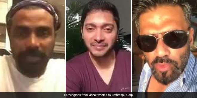 Suniel Shetty, Shreyas Talpade and Remo D'souza requested Berhampur residents to maintain cleanliness