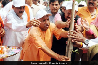 Yogi Adityanath started off the Van Mahotsav in Uttar Pradesh