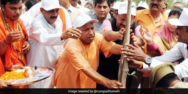 Yogi Adityanath started off the Van Mahotsav in Uttar Pradesh