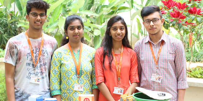 Waste Management Bengaluru students develop a smart solution to prevent garbage overflowfrom bins