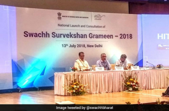 The Ministry of Drinking Water and Sanitation launched Swachh Survekshan Grameen 2018