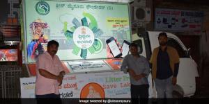 Swachhta Ambari, A Roving Vehicle To Spread Cleanliness Message On Mysuru's Roads