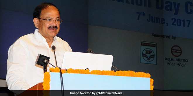 Vice President Venkaiah Naidu lauded WHO's praise of the Swachh Bharat Abhiyan