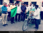 Garbage collection vehicles were flagged off in Bareilly by the district administration