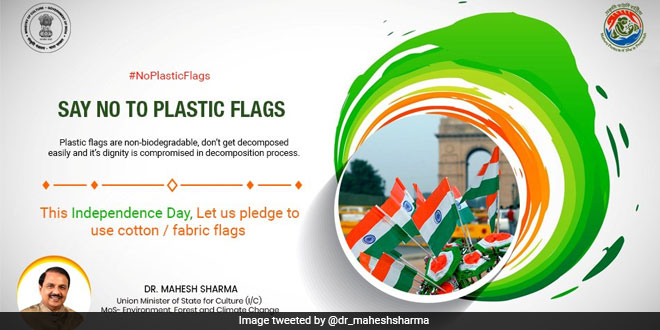 no-plastic-flags-independence-day-mahesh-sharma