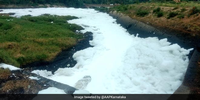 Toxic froth in Bengaluru's Byramangala lake has resulted in skin infections for people in the area