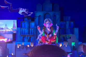 With plastic pollution as its theme, Ganapati Pandal in Thane educate people about the damage caused to oceans