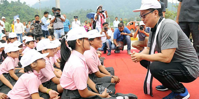 Kiren Rijiju Launches Clean Up Drive At Arunachal Pradesh Railway Station