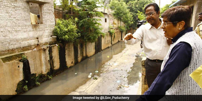 Lieutenant Governor Kiran Bedi Leads Initiative To Clean 86Km Stretch Of Puducherry's Water Bodies