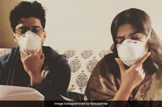'Masking Our Emotions': Farhan Akhtar & Priyanka Chopra Battle Delhi's Pollution With Masks