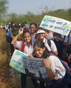 Green, Not Concrete: More than 5000 Students Form Human Chain In Gurugram To Protect Aravali Biodiversity Park