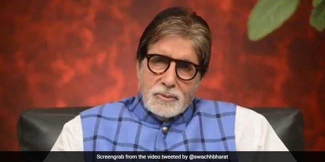 'Jai Bharat, Jai Swachhta,' Says Amitabh Bachchan In His World Toilet Day Message