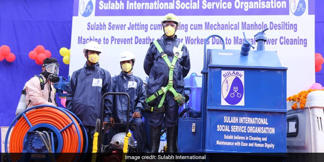 sulabh-international-manual-scavenging-machine