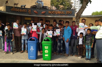 Amdavad Municipal Corporation conducted a massive awareness drive on waste segregation on December 2