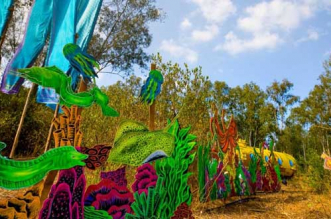 Around 12 tonnes of waste was recycled to make art installations in Bengaluru's 'Echoes of Earth' music festival