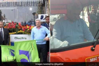 Delhi Launches Trials Of Third Electric Bus As It Promotes Use Of Electric Vehicles To Combat Air Pollution