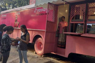 Eleven discarded public buses were revamped into lavish toilets for women in Pune
